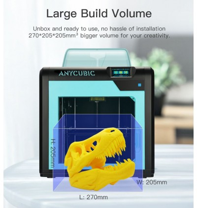 ANYCUBIC 4MAX Pro FDM Ultrabase Touch Screen Enclosed Large Desktop 3D Printer