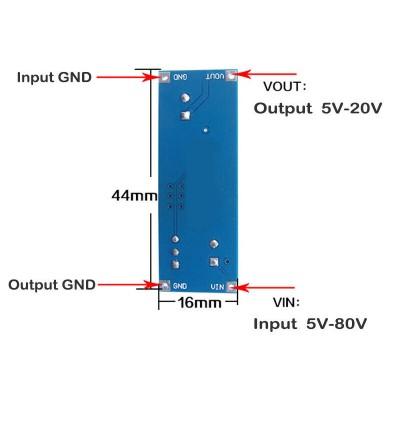 XL7015 DC-DC Convertor 5V-80V to 5V-20V Step Down Module Voltage Regulator