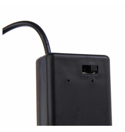 9V Battery Snap Holder Case with ON/OFF Switch + 2.1mm DC Plug