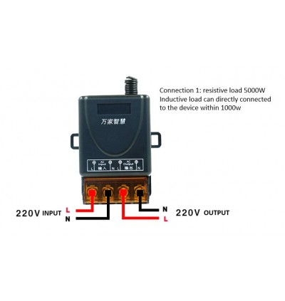 AC220V Wireless Remote Control Switch 30A High Power Controller