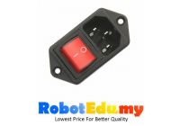 AC Power Male IEC320 C14 Cord Inlet Socket with ON-OFF Rocker Switch 250V 15A