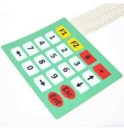 4x5 Matrix Extension Keyboard 20 Key Membrane Switch Keypad Keyboard For Arduino