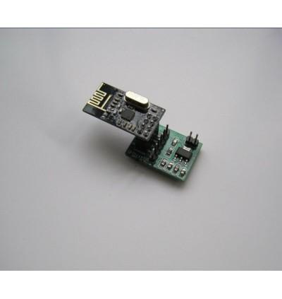 ARDUINO NRF24L01 Module 8pin Breakout Socket Adapter 3.3V Regulator On-board