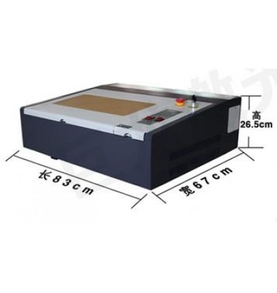 50W 4040 CO2 Laser CNC Engraving Machine Low Cost Rubber Stamp Maker
